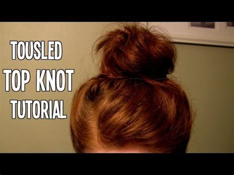 length hair neededfor samuraihair tousled top knot tutorial great for short medium length
