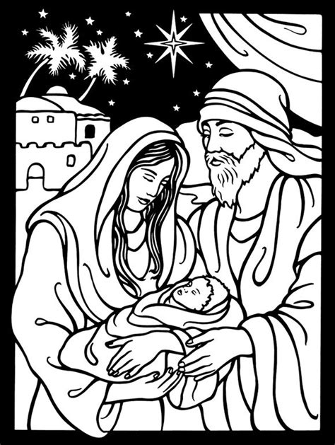 mary joseph and baby jesus from dover publications