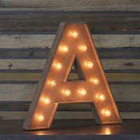Edison Marquee Letter  A Town &amp Country Event Rentals