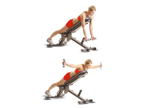 bench flies how to do incline reverse dumbbell fly women s health