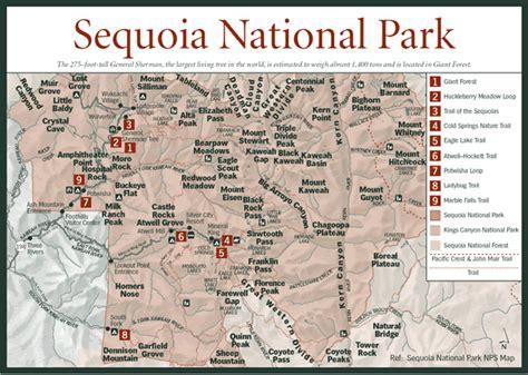 sequoia national park map sequoia national park map general sherman tree location king