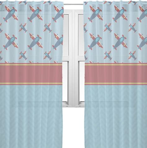 airplane curtains airplane theme sheer curtains personalized youcustomizeit