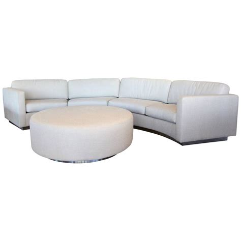 milo baughman curved sofa thayer coggin milo baughman curved sofa and ottoman with