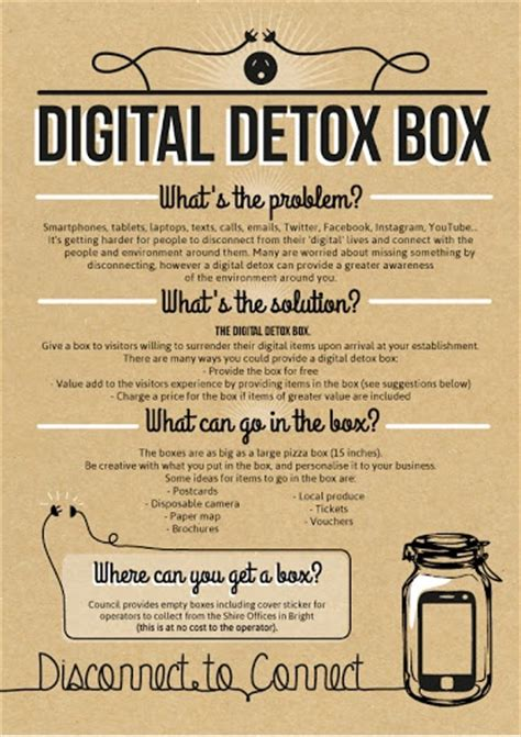 What S A Social Detox by Digital Detox Box Fact Sheet Helpful Tips