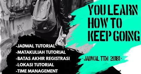 jadwal tutorial ut matakuliah tawaran tutorial tatap muka non pendas 20181