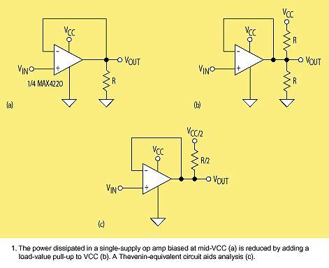 op load resistor single rail op to detect current