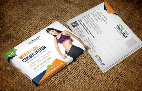 postcard template indesign fitness weight loss postcard indesign template by jbn
