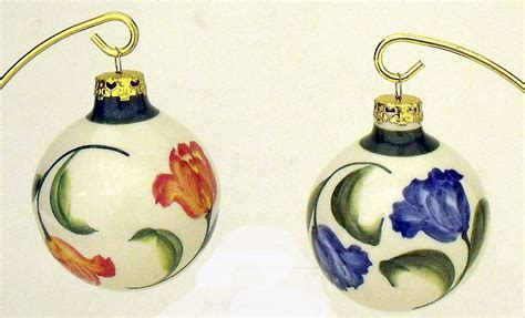 christmas ornaments delft blue and white set of 2 blue delft ceramic tulip ornaments blue and white ceramic delft ornament