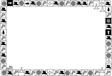 free illustration board game border frame dice free