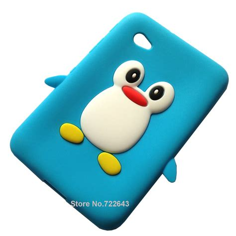 baby blue covers 007 baby blue 3d penguin soft gel silicone
