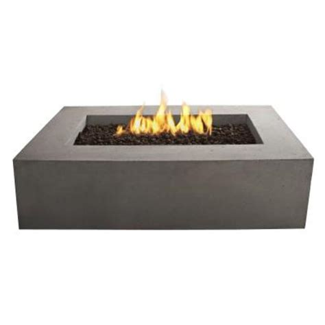 Lp Gas Outdoor Pit Real Baltic 51 In Rectangle Propane Gas Outdoor