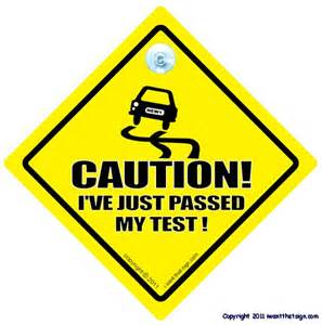 CAUTION I'VE JUST PASSED MY TEST! Car Sign Driving Test   eBay