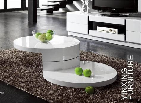 modern white coffee table with storage mellow