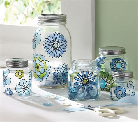 Painting Glass Jars by Salad Dressing Dispenser With Martha Stewart Crafts