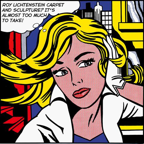 roy lichtenstein if it s hip it s here archives a little lichtenstein for your home rugs sculpture by the