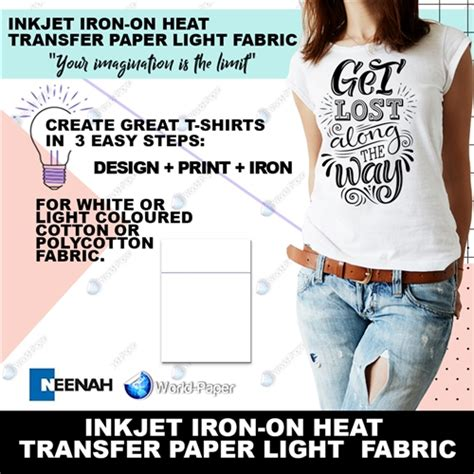 inkjet iron on transfer paper amazon world paper purple line iron jet light inkjet heat