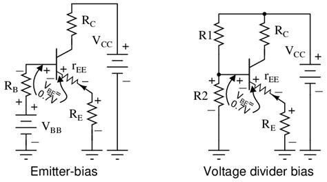 base bias with emitter resistor 22 single transistor and transistor
