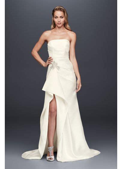 Wedding Dress With Slit by Mikado Sheath Wedding Dress With Slit Skirt David S Bridal