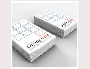 loyalty card design template free single or sided loyalty card printing azimuth print