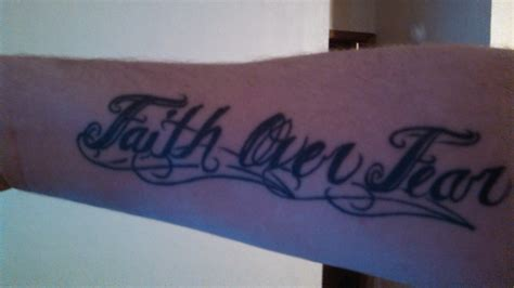 faith over fear tattoo tatspiration
