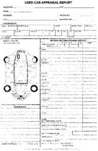 Used Car Valuation Report Format Used Car Appraisal Pad