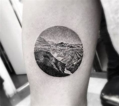 black circle tattoo 63 wonderful mountain tattoos