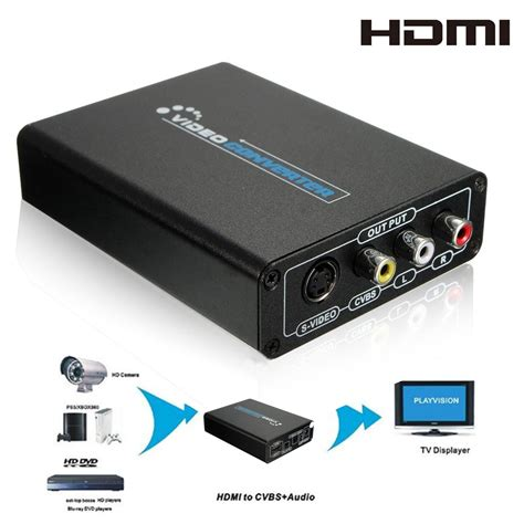 Converter Hdmi To Rca S hdmi to s cvbs converter 3rca av composite r l audio