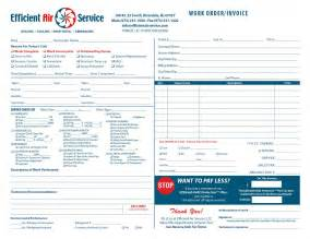 Air Conditioning Invoice Template by Heating Air Invoice Form Sles Wilson Printing