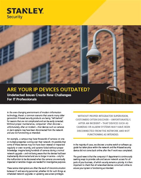 stanley black decker canada corporation is your ip security outdated