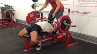 180kg bench press george siopis