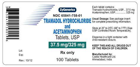talacen medication tramadol and acetaminophen fda prescribing information
