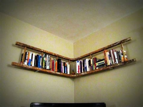 Wooden Shelf Ladders by Antique Wooden Ladder Bookshelf