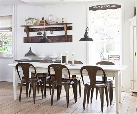 industrial style in dining room