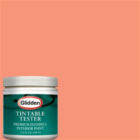 glidden premium 8 oz tropical coral interior paint tester glo07 d8 the home depot