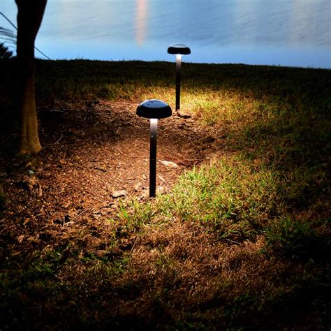 Solar Lights Landscaping Pathway Solar Light Orb2 By Free Light White