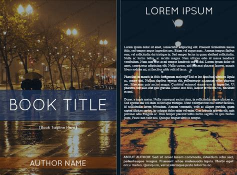 word book cover template book cover template free dotxes