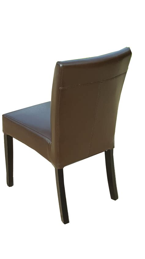 black brown dining chairs leather parson dining room kitchen chairs brown or