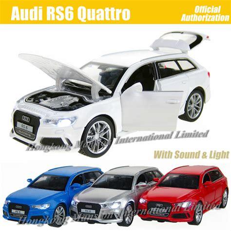 Audi Rs6 Quattro 1 32 Diecast Led Depan Blakang Pintu Kap Bs Dibuka aliexpress buy 1 32 scale diecast alloy metal luxury suv car model for audi rs6 quattro