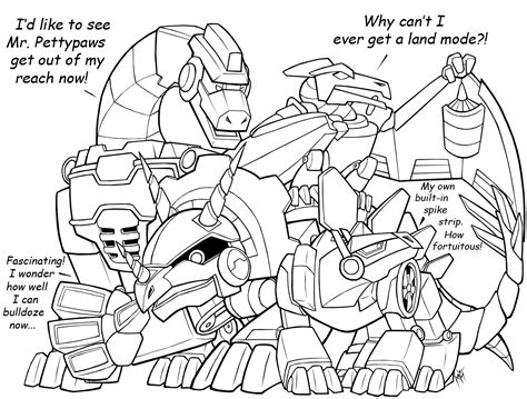 dinosaur transformers coloring page dino rbs update by maximumoverdrive on deviantart