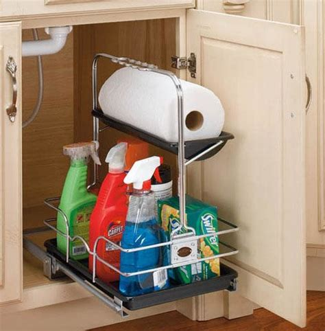 Kitchen Sink Cabinet Organizer Rev A Shelf Removable Under Sink Caddy Eclectic Pantry