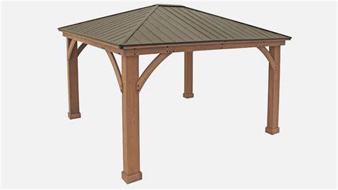 12 x 14 wood gazebo with aluminium roof yardistry