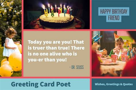 happy birthday friend messages  bring  smile greeting card poet