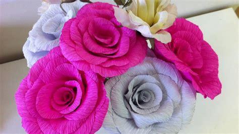 como hacer flores de papel crepe cositasconmesh flores de papel crepe paso a paso