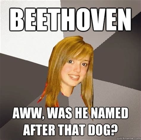 D Aww Meme - beethoven aww was he named after that dog musically