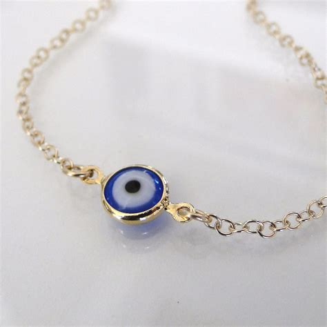 evil eye bracelet 14k gold filled lucky by classicdesigns