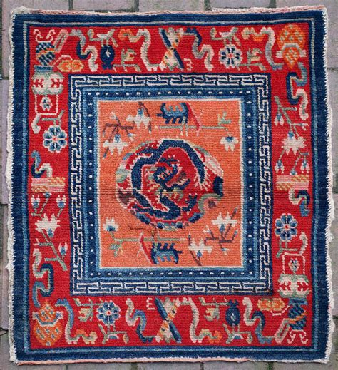 tibetan rugs for sale antique tibetan rug saddle top with design for sale at 1stdibs