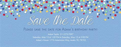 Free Save The Date Invitations And Cards Evite Com Birthday Save The Date Templates Free
