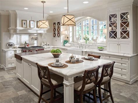 Kitchen Island With Table Seating These 20 Stylish Kitchen Island Designs Will You Swooning