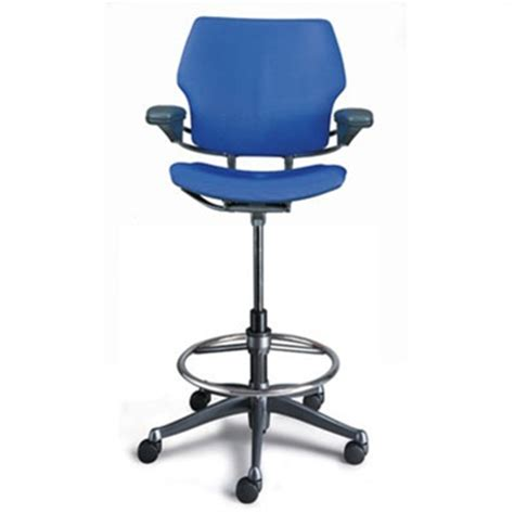 humanscale freedom ergonomic drafting leather high office