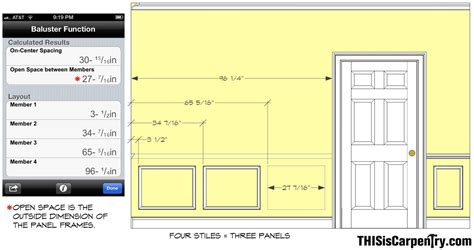 Wainscoting Panel Size Laying Out Wainscoting With Buildcalc Thisiscarpentry